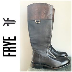 BRAND NEW FRYE boots black brown